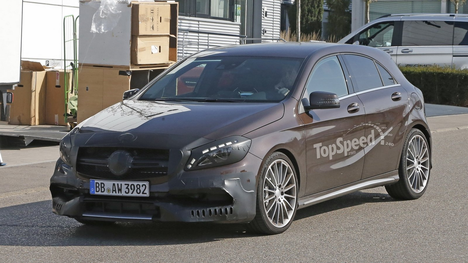 Mercedes a45 amg testing in germany spy shots news top for Mercedes benz in germany