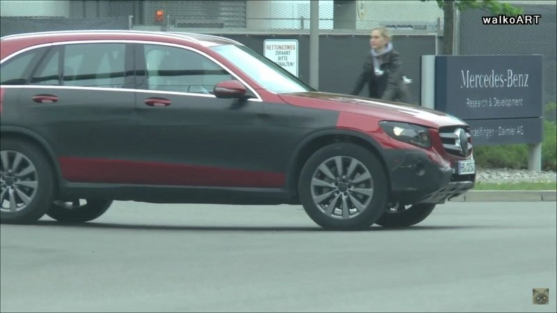 Mercedes GLC Caught On The Road: Video