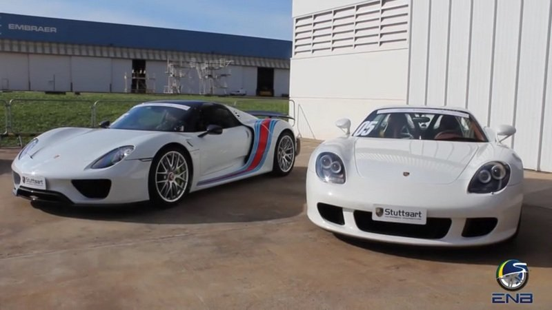 Porsche Carrera GT Vs. Porsche 918 Spyder: Video