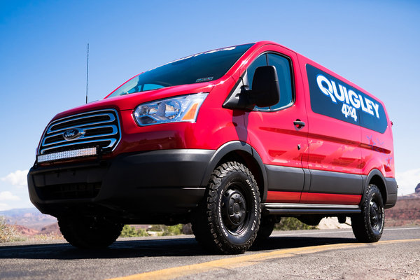 quigley motors 39 4x4 ford transit takes on the 2015 easter jeep safari video truck news top. Black Bedroom Furniture Sets. Home Design Ideas