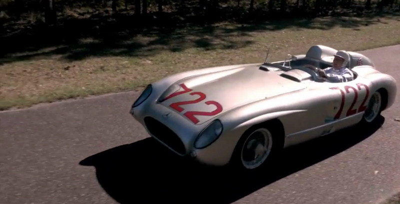 Sir Stirling Moss Driving The Mercedes-Benz 300 SLR: Video