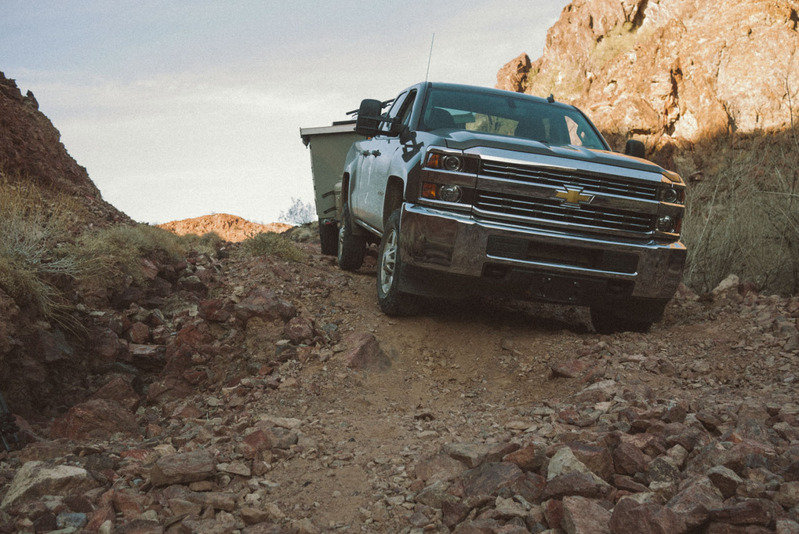 Stock Chevy Silverado Pulls Homemade Camper On Off-Road Adventure