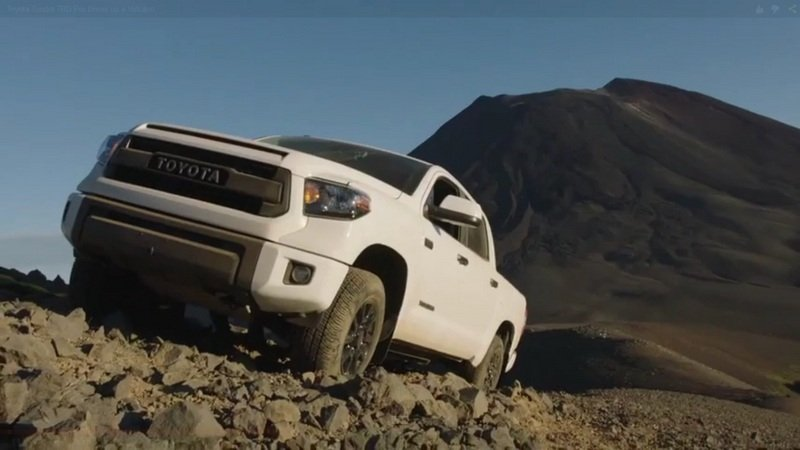 Toyota Tundra TRD Pro Drives Up A Volcano: Video