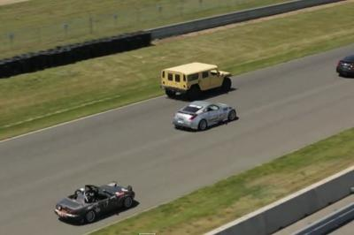 Track Day With A Hummer H1? Watch How It's Done