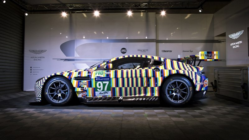 Aston Martin Unveils Vantage GTE Art Car Created By Tobias Rehberger