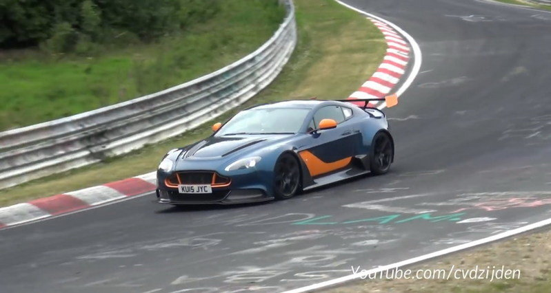 Aston Martin Vantage GT12 Testing At Nurburgring: Video