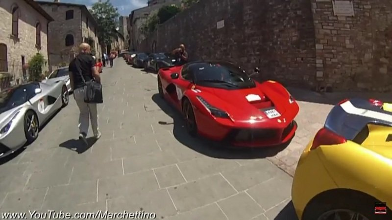 Dozens Of LaFerraris Caught In The Same Place: Video
