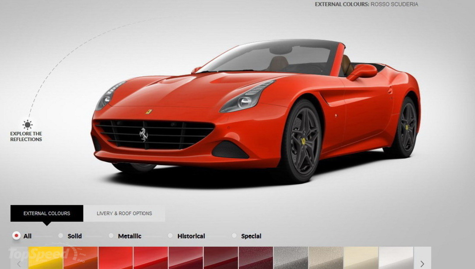ferrari california t configurator updated with new colors and options news top speed. Black Bedroom Furniture Sets. Home Design Ideas