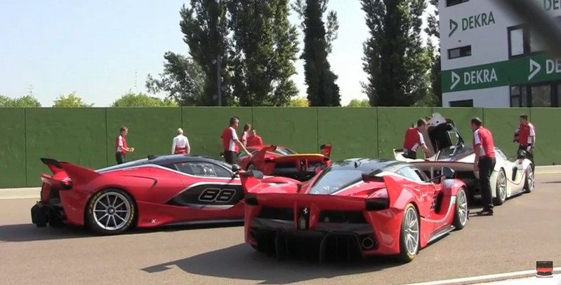 Four Ferrari FXX Ks At Full Throttle: Video