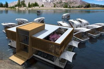 Salt and Water Previews Floating Catamaran Apartments