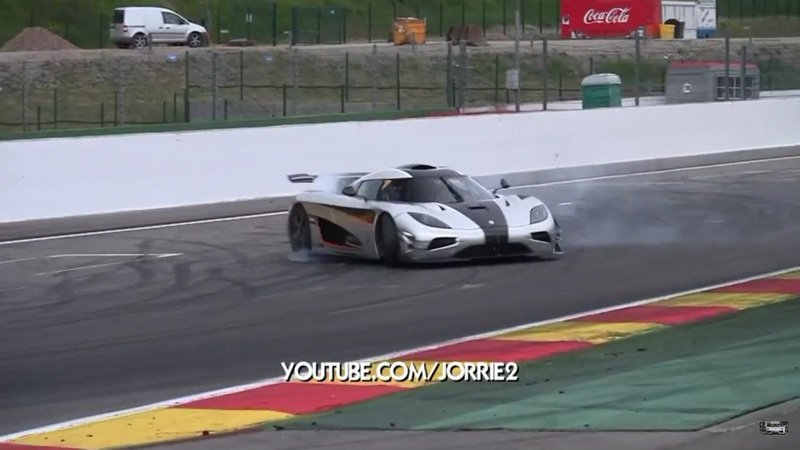 Koenigsegg One:1 Nearly Crashes At Spa-Francorchamps: Video