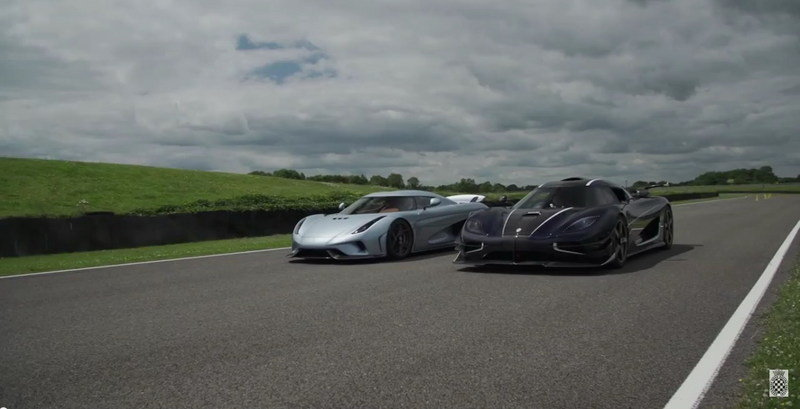 Koenigsegg Regera Looks Amazing Next To The One:1 - Video