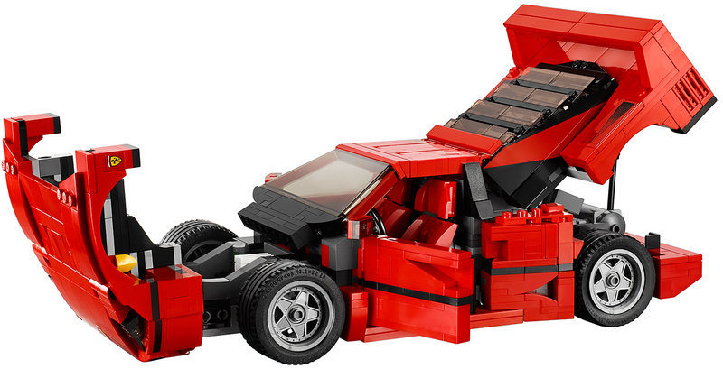 Lego Ferrari F40 Comes With Removable V-8 Engine