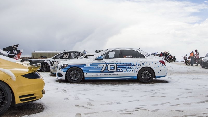Mercedes C 250d 4MATIC Sets Diesel Record At Pikes Peak