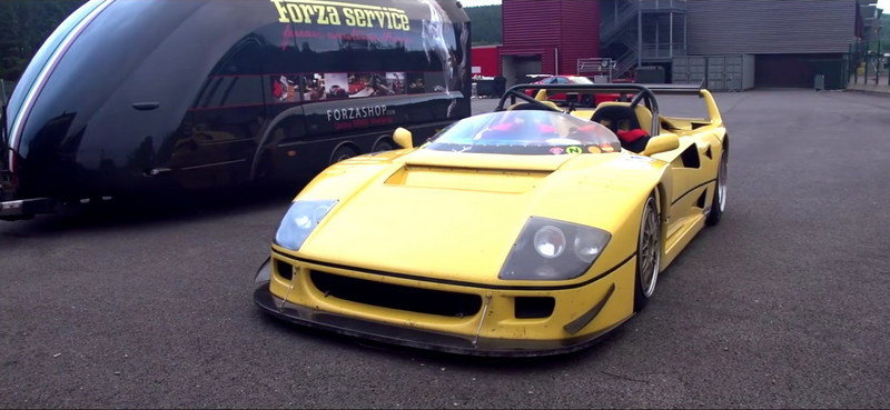 Up Close And Personal With Ferrari F40 Le Mans Beurlys: Video