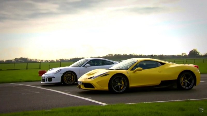 Ferrari 458 Speciale Vs. Porsche 911 GT3: Video