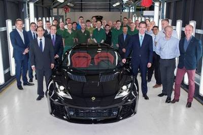 First Lotus Evora 400 Rolls Off The Production Line