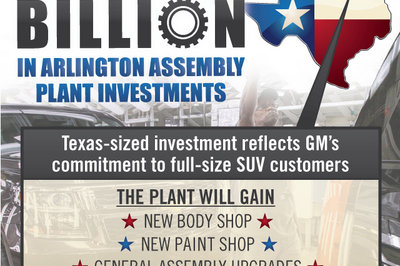 GM Invests $1.4 Billion To Upgrade Arlington Plant