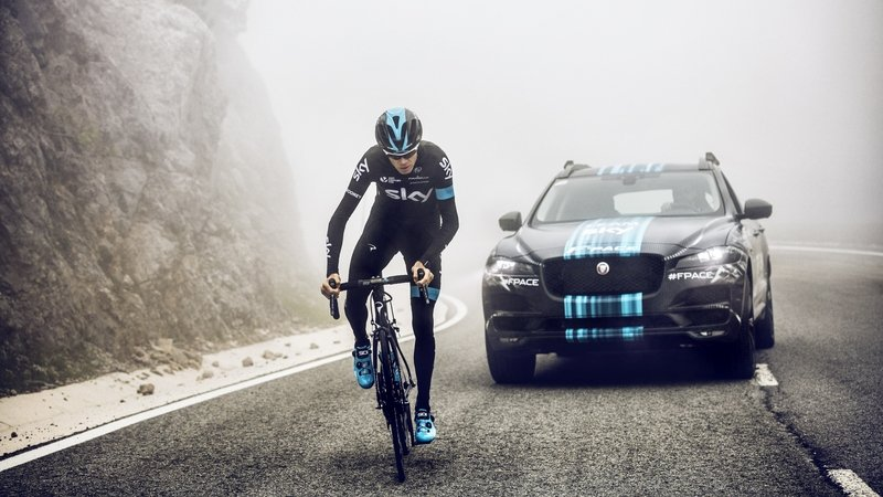 Jaguar F-Pace Will Be Used As Tour de France Team Sky Support Vehicle
