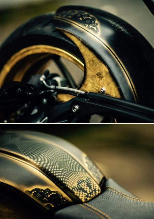 Custom Car Paint >> Tattoo Artist Creates The Gold Leaf BMW R NineT - Picture 636987 | motorcycle News @ Top Speed
