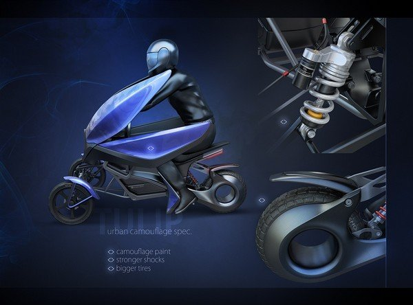 Victory Motorcycle Parts >> Tulip Three-Wheel Electric Scooter Concept Is An Eye ...