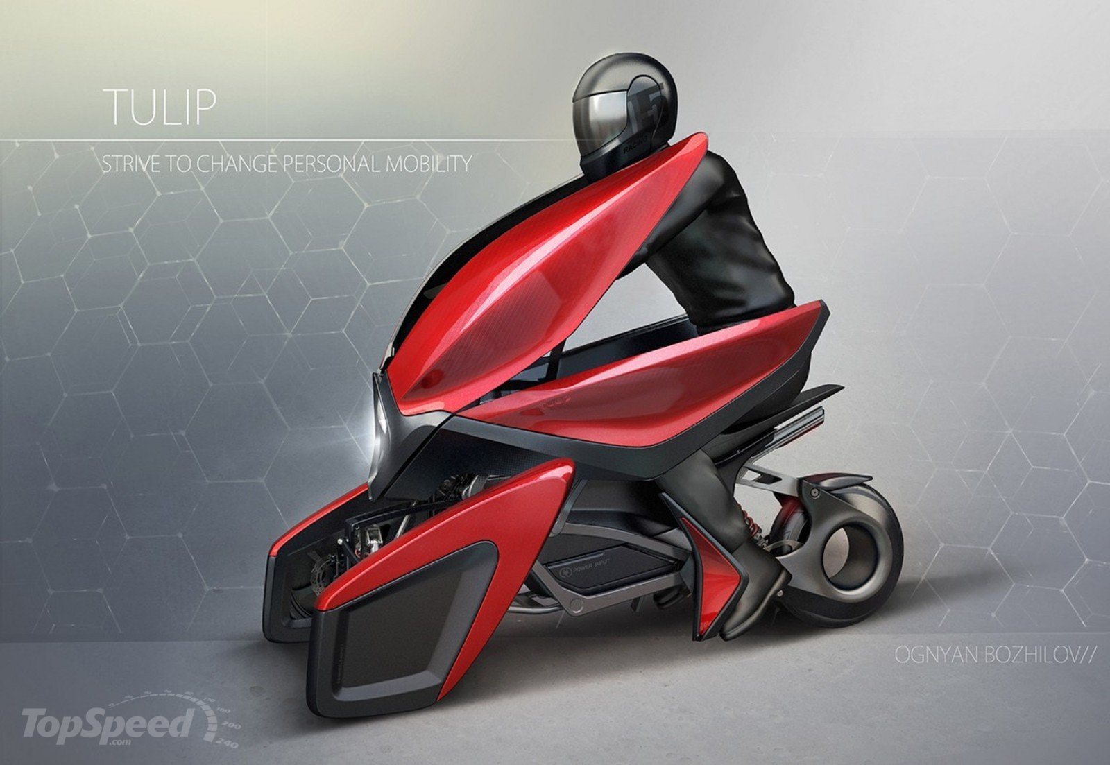 Tulip Three Wheel Electric Scooter Concept Is An Eye