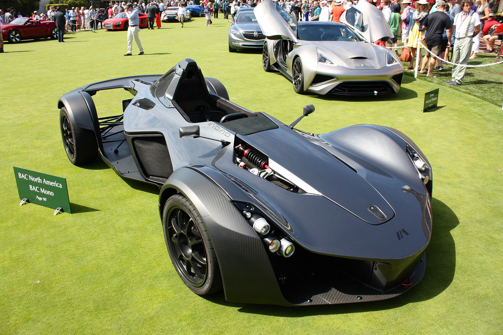 the motoring world usa the bac mono is on display at the pebble beach stave wine cellar the. Black Bedroom Furniture Sets. Home Design Ideas