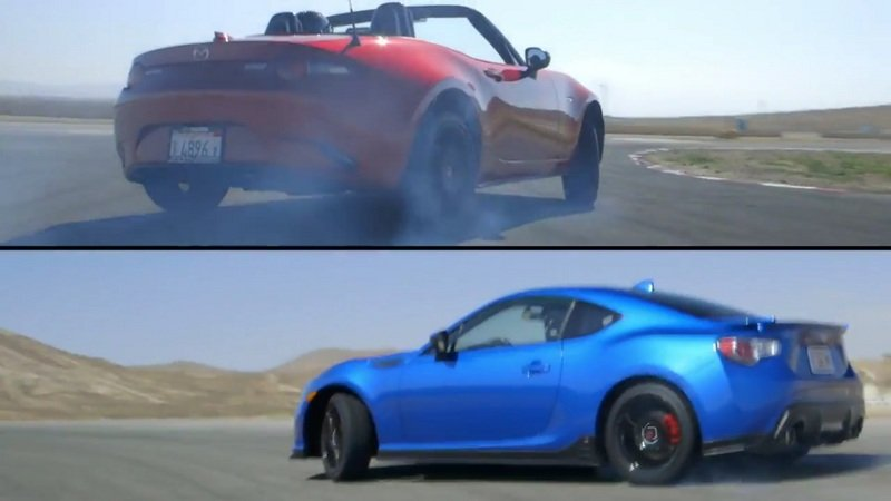 2016 Mazda MX-5 Miata VS 2015 Subaru BRZ: Video