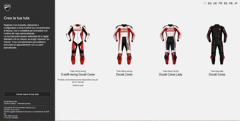 Ducati Launches New Motorcycle Suit Customization Website