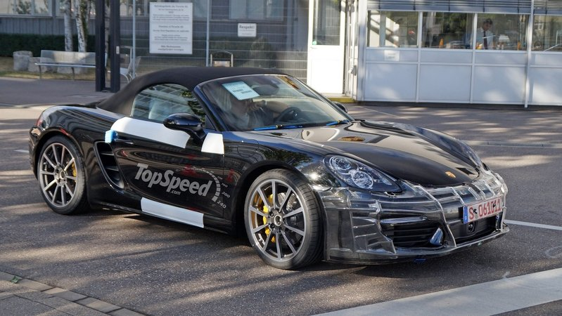 Porsche Boxster Facelift Caught Testing In Stuttgart: Spy Shots