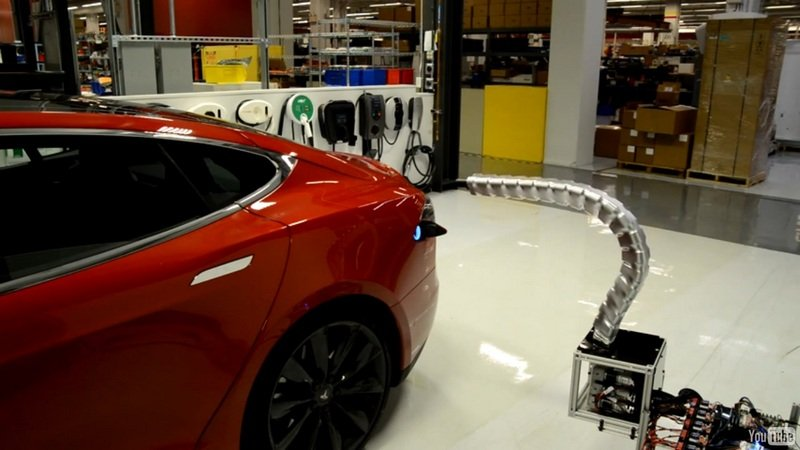 Tesla Reveals Robotic Charger Prototype