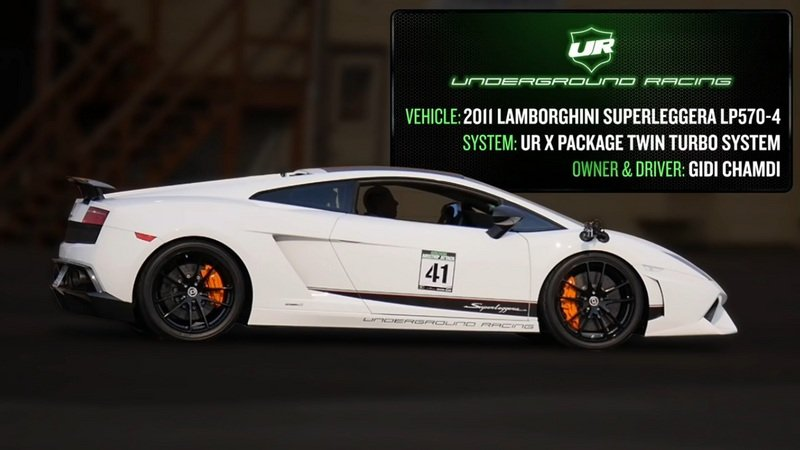Underground Racing Gallardo Sets New 1/2 Mile World Record: Video