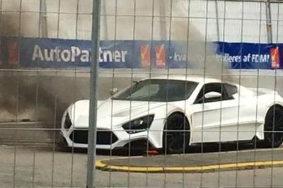 Zenvo ST1 Catches Fire At Copenhagen Historic Grand Prix