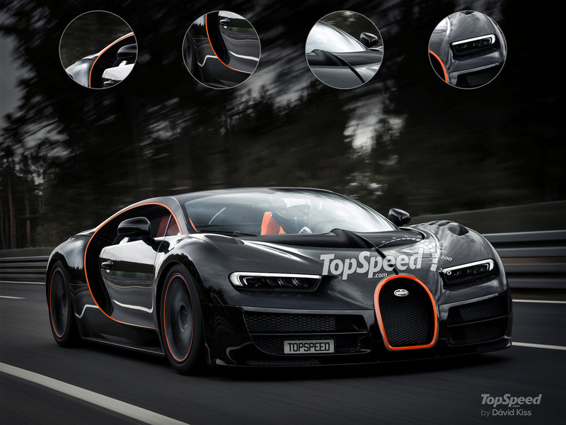 2018 Bugatti Chiron Exterior Computer Renderings and Photoshop Exclusive Photos - image 648627