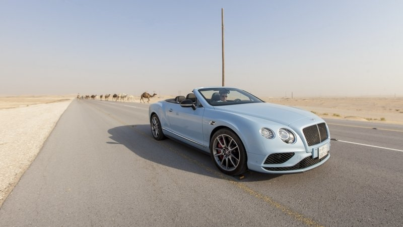 Bentley Puts Continental GT V8 S Convertible Against Train