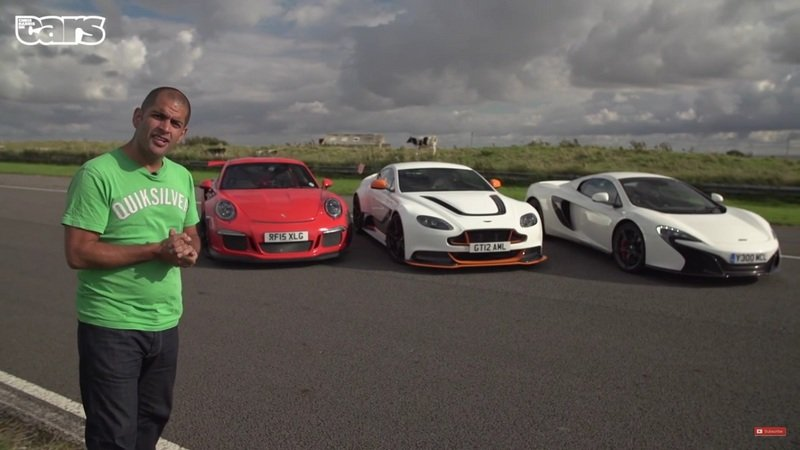Chris Harris Puts The Aston GT12 Vs. 991 GT3RS Vs. McLaren 650S: Video
