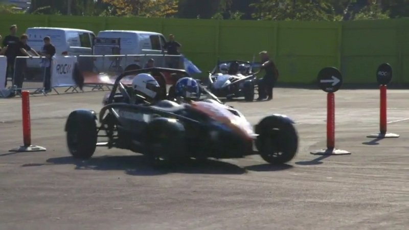 David Coulthard Drifts Ariel Atom At Race of Champions: Video