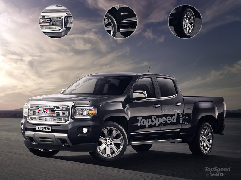 2017 GMC Canyon Denali Exterior Spyshots Computer Renderings and Photoshop - image 650653