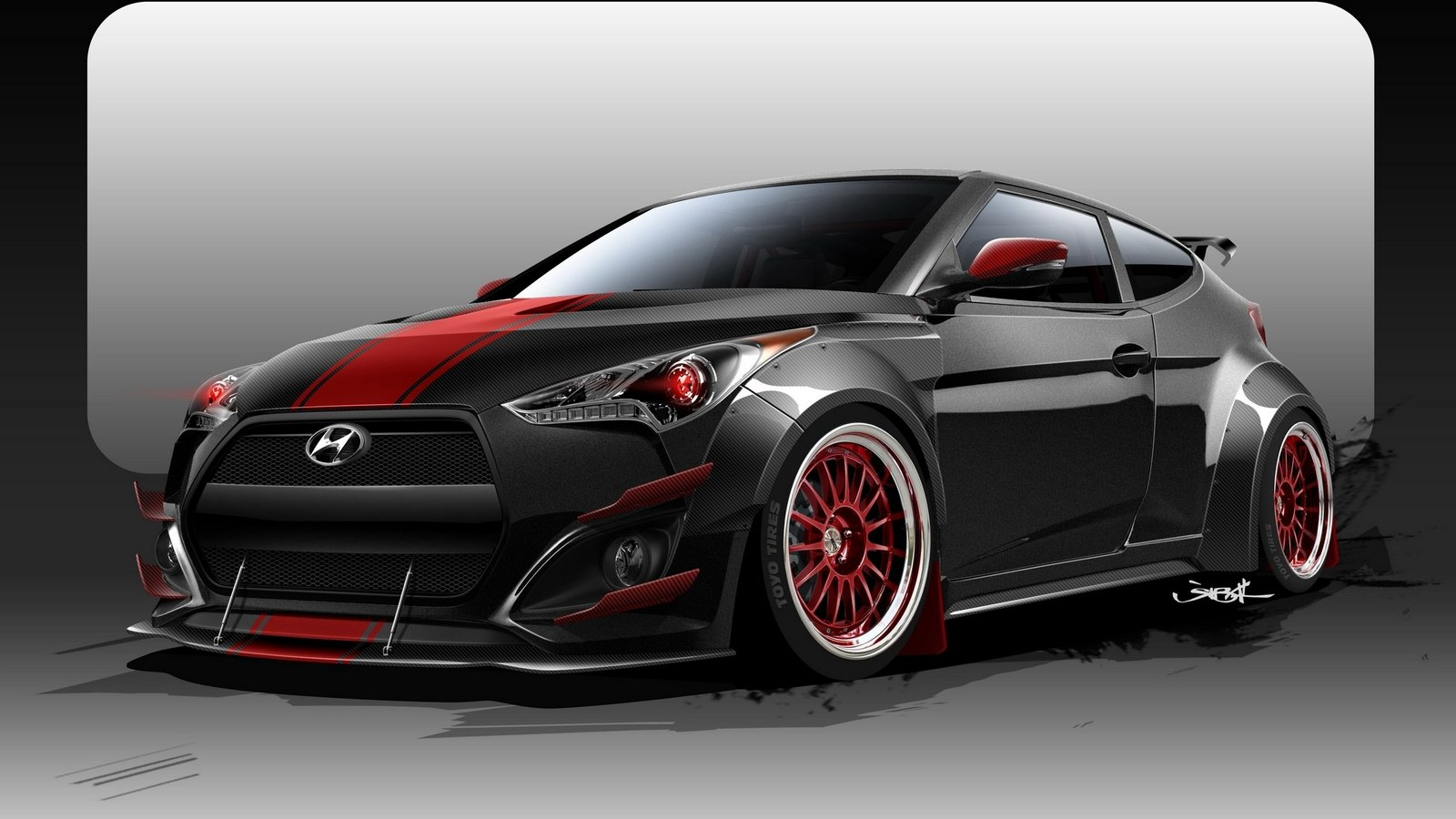 2015 hyundai veloster turbo by blood type racing review top speed. Black Bedroom Furniture Sets. Home Design Ideas