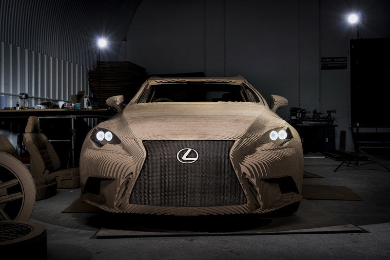 Lexus Unveils Drivable IS Full-Size Origami