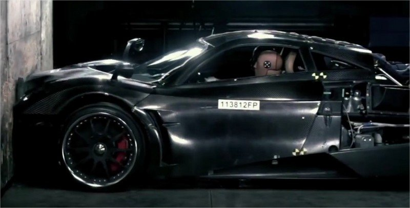 Pagani Huayra Crash Test: Video