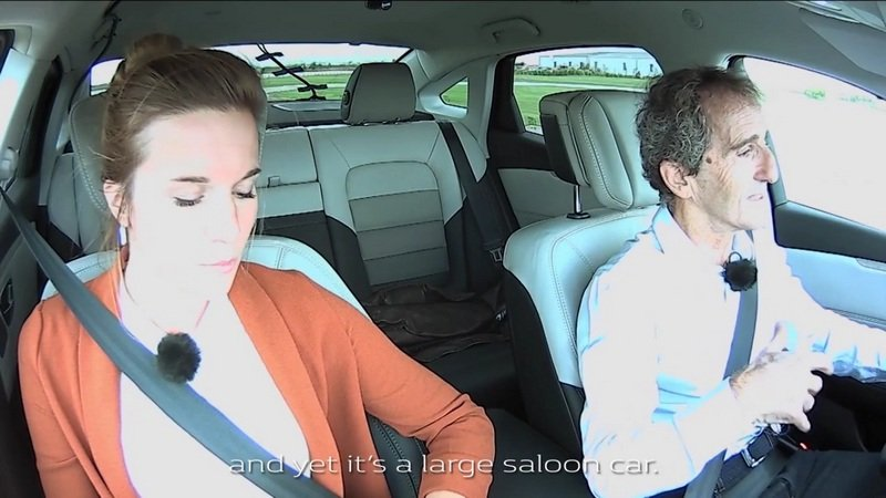 Alain Prost Test-Drives The Renault Talisman: Video