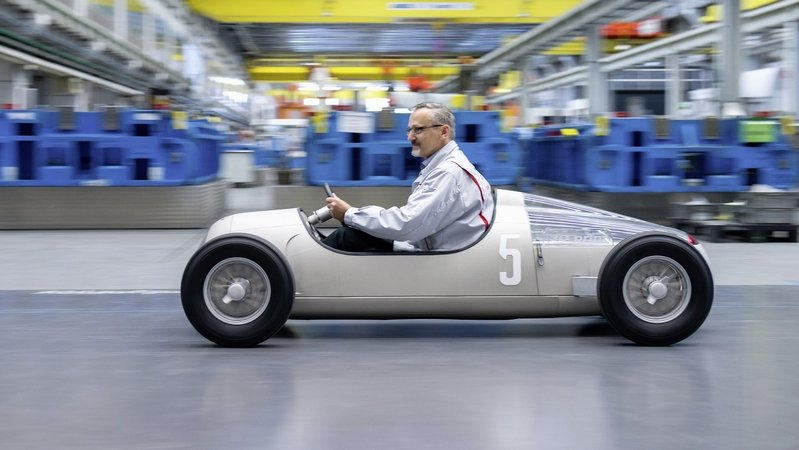 "Audi Uses 3D Printer To Create ""Auto Union Typ C"" At 1:2 Scale"