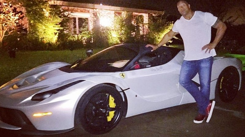 Dwayne Johnson Can't Fit In His LaFerrari