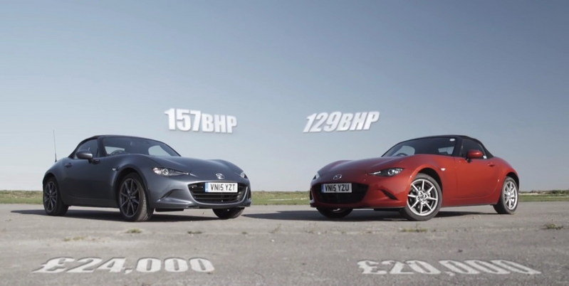Mazda MX-5 Track Battle: 1.5 Vs. 2.0 Versions: Video