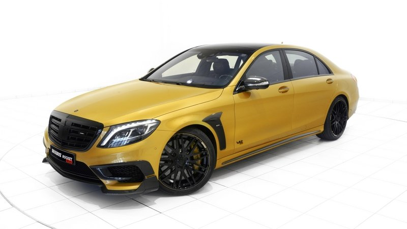 "2015 Mercedes S65 AMG ""Rocket 900 Desert Gold Edition"" By Brabus"