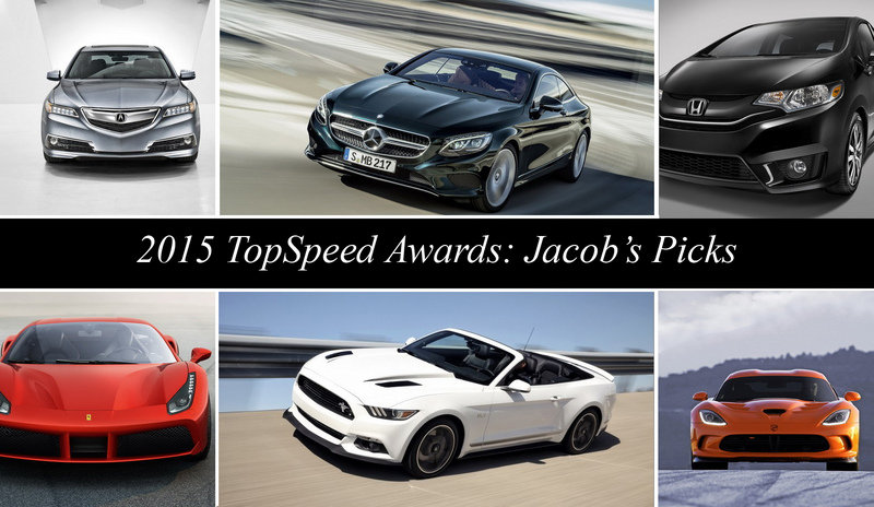2015 TopSpeed Awards: Jacob's Picks