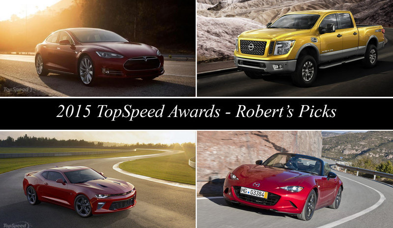 2015 TopSpeed Awards - Robert's Picks