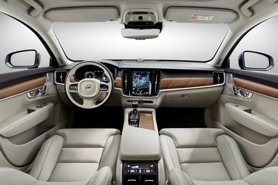The S90 gets a luxurious cabin