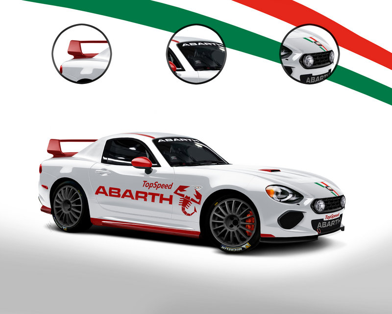 2018 Abarth 124 WRC Exterior Exclusive Renderings Computer Renderings and Photoshop - image 658731
